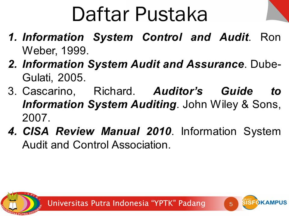 Dampak Audit Sistem Informasi IT/IS Audit Asset safeguarding Data integrity System effectiveness System efficiency 16
