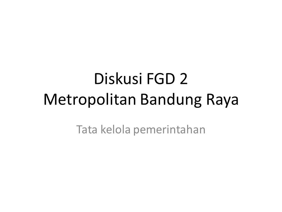 Diskusi FGD 2 Metropolitan Bandung Raya Tata kelola pemerintahan