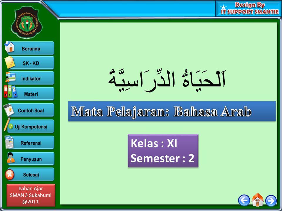 Bahan Ajar SMAN 3 Sukabumi @2011 Bahan Ajar SMAN 3 Sukabumi @2011 Kelas : XI Semester : 2 Kelas : XI Semester : 2 اَلْحَيَاةُ الدِّرَاسِيَّةُ