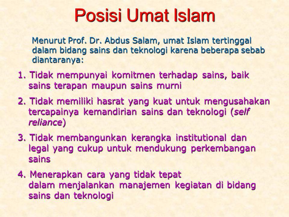 Posisi Umat Islam Menurut Prof.Dr.