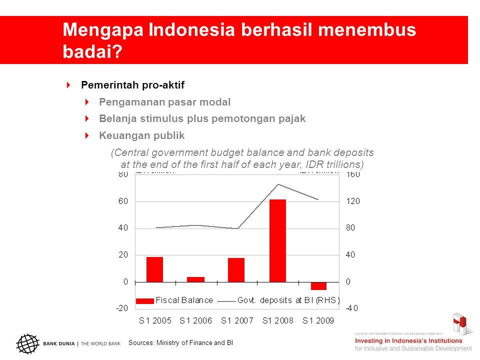 Mengapa Indonesia berhasil menembus badai.