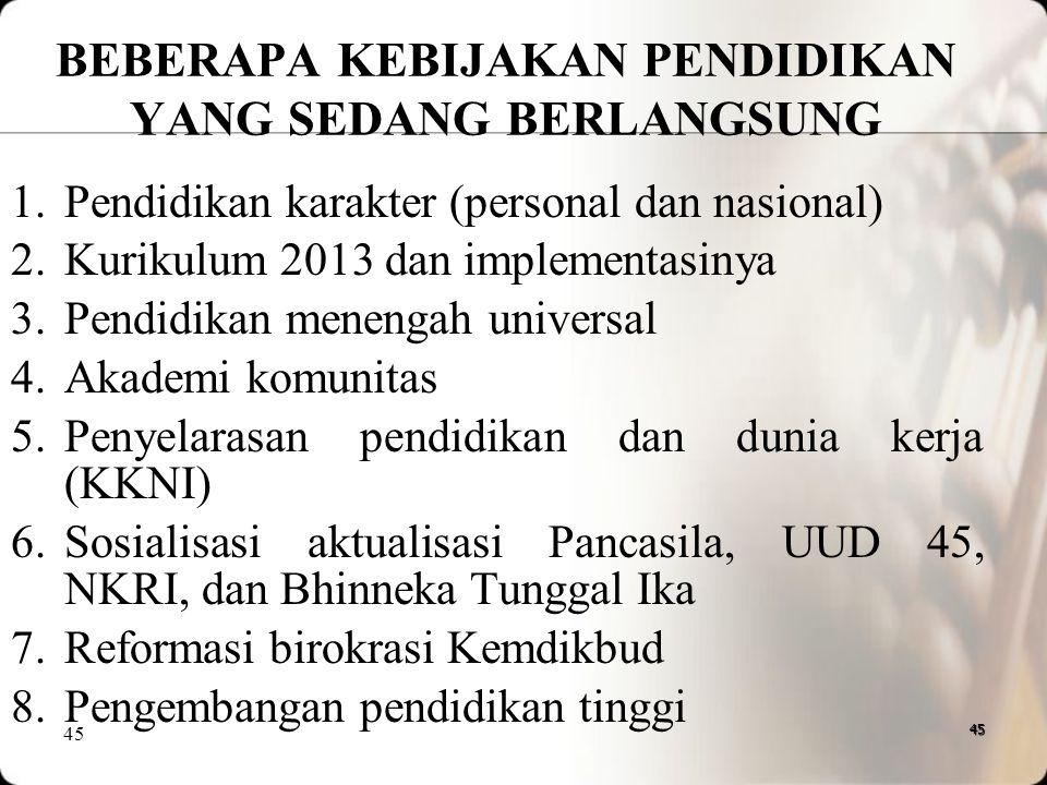 49.Kesenjangan pemerataan dan mutu pendidikan antara wilayah Indonesia barat dan timur, antara kota dan daerah pinggiran (hinterland) terjadi akibat k