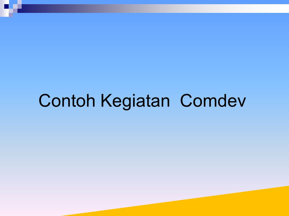 Contoh Kegiatan Comdev