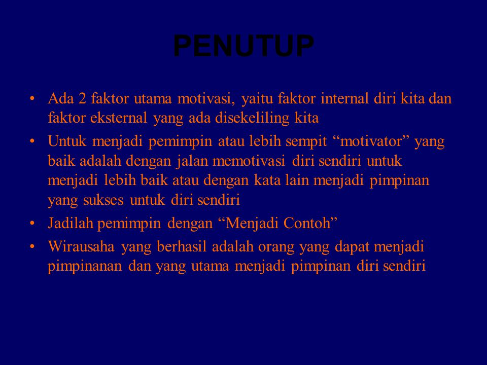 KEPEMIMPINAN (T.PERILAKU PRIBADI) 1).