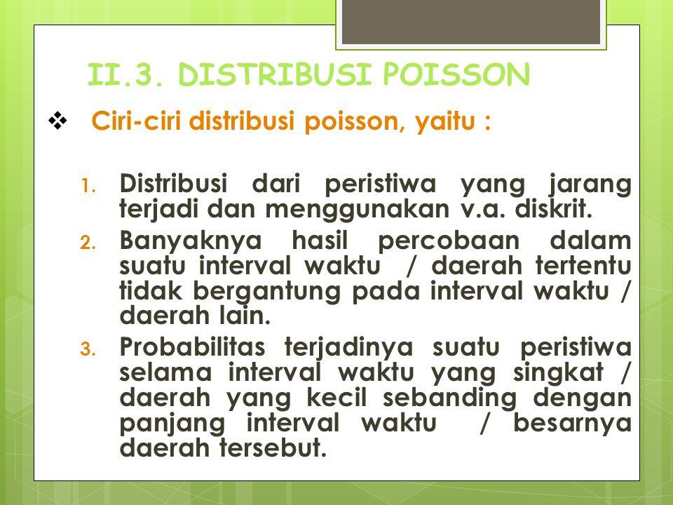  Penggunaan distribusi poisson 1.