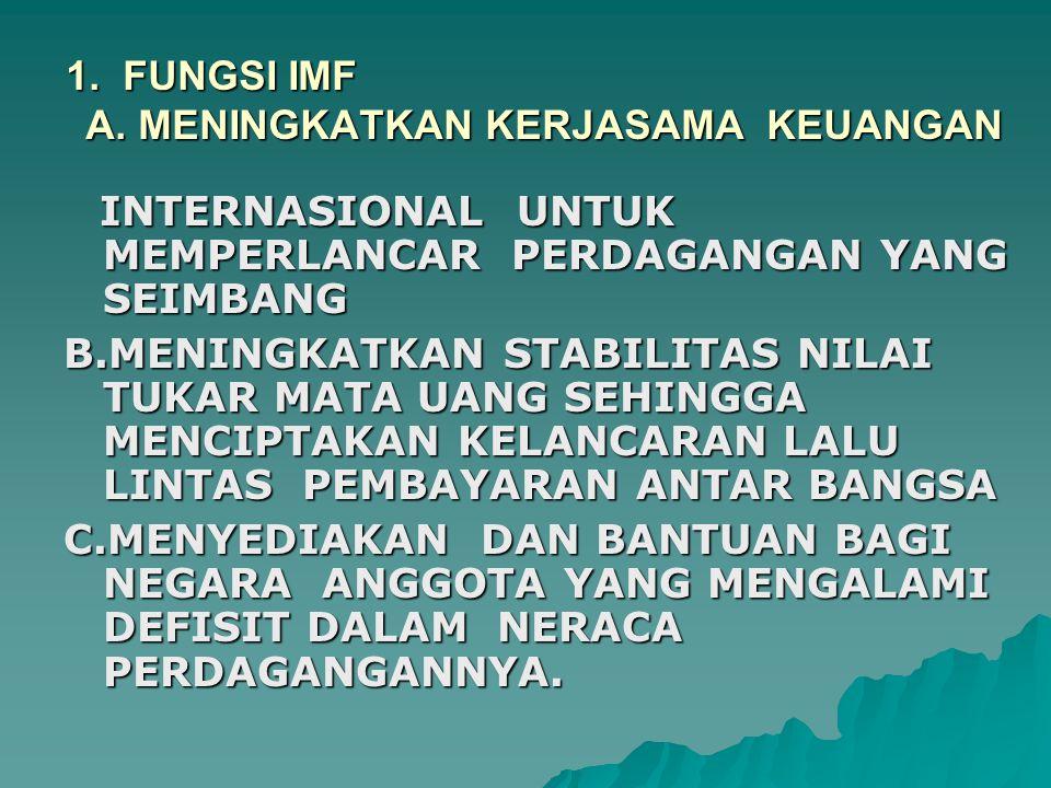 1. FUNGSI IMF A.