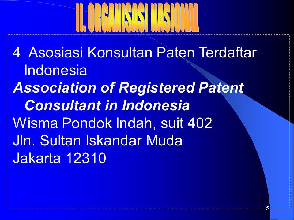 6 5 Yayasan Karya Cipta Indonesia (YKCI) Indonesian Foundation for Copyrighted Works Gedung Kartika Chandra Lantai 6, Ruang 608 - 611 Jln.