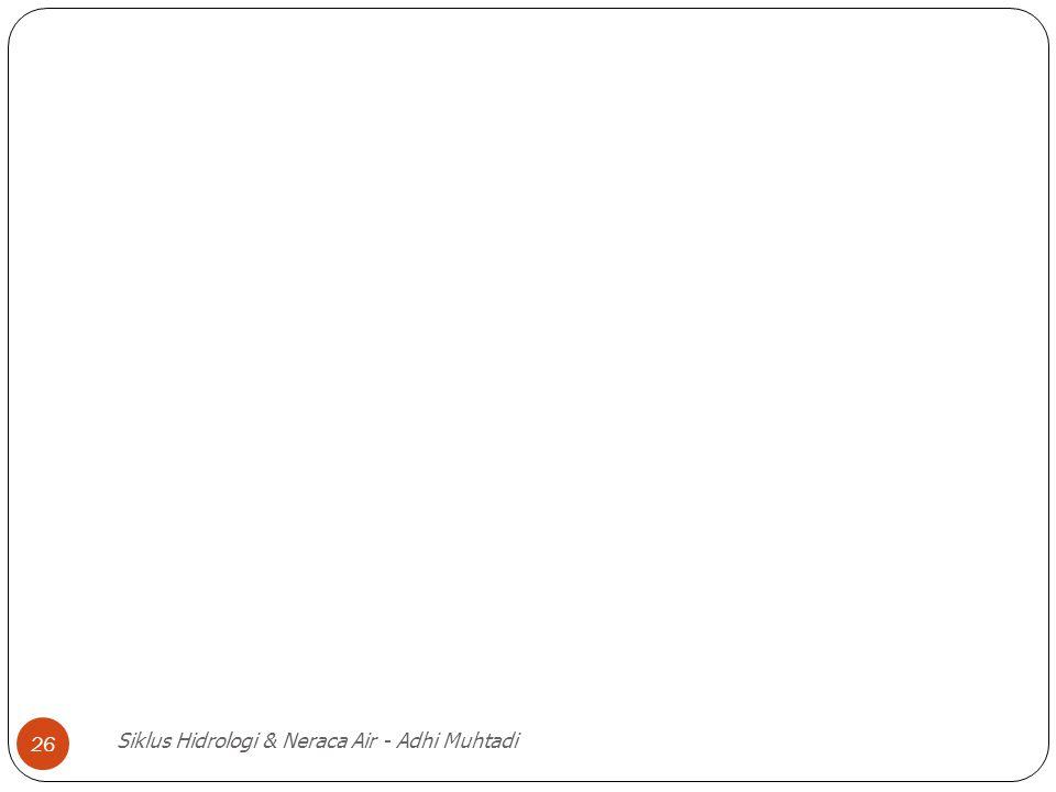 Siklus Hidrologi & Neraca Air - Adhi Muhtadi 26