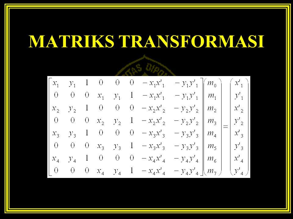 MATRIKS TRANSFORMASI