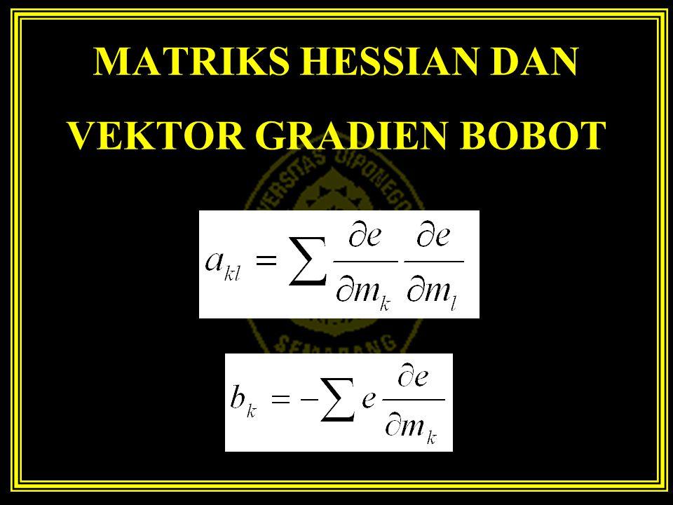 MATRIKS HESSIAN DAN VEKTOR GRADIEN BOBOT