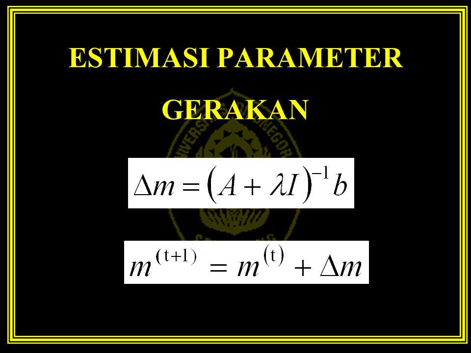 ESTIMASI PARAMETER GERAKAN