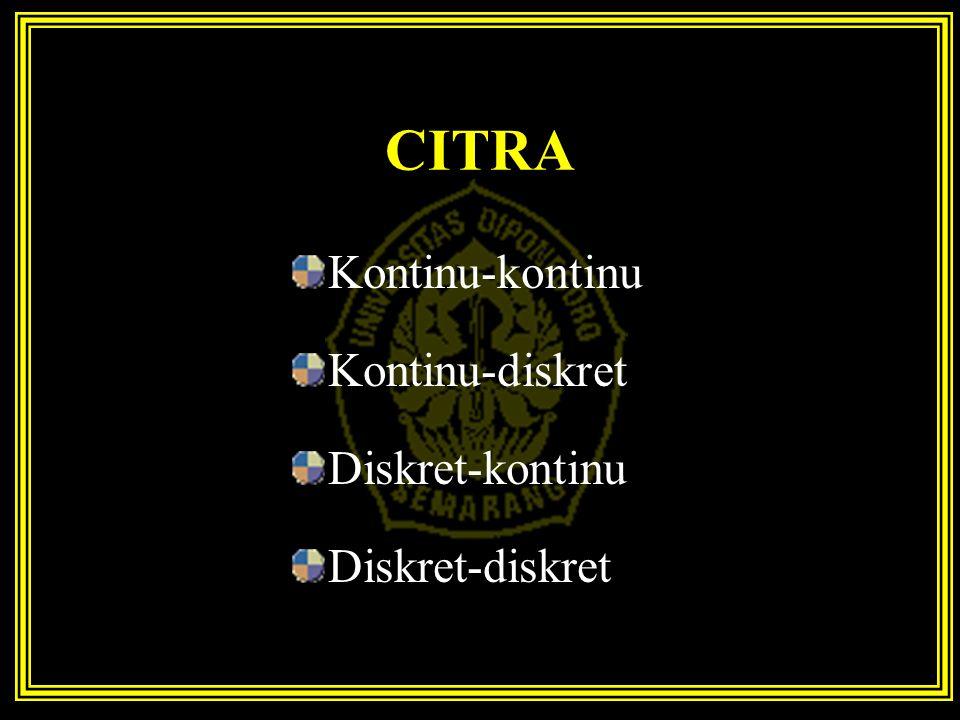 CITRA Kontinu-kontinu Kontinu-diskret Diskret-kontinu Diskret-diskret