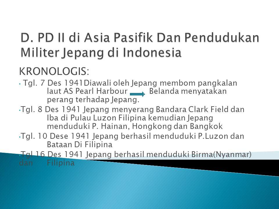  Untuk menghadapi serangan Jepang As  Membentu k : a.)ABDACOM Gabungan : pasukan AS, Inggris, Blanda, Australia yang bermarkas di Bandung b.) ABCD Gabungan : Amerika, Inggris.
