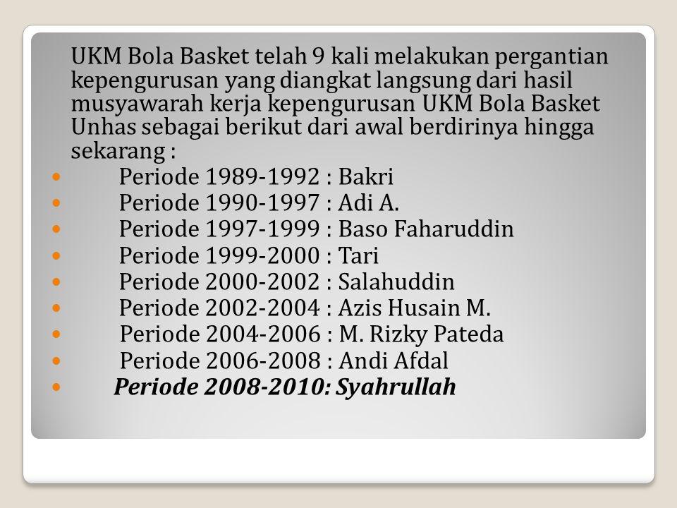 UKM Bola Basket Unhas disetiap kepengurusannya memiliki program kerja yang mendasari dasar pelaksanaan kegiatan ke depan.