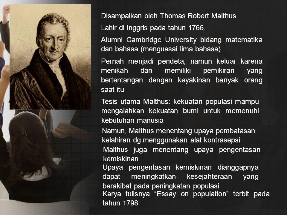 Lahir di Inggris pada tahun 1766. Alumni Cambridge University bidang matematika dan bahasa (menguasai lima bahasa) Pernah menjadi pendeta, namun kelua