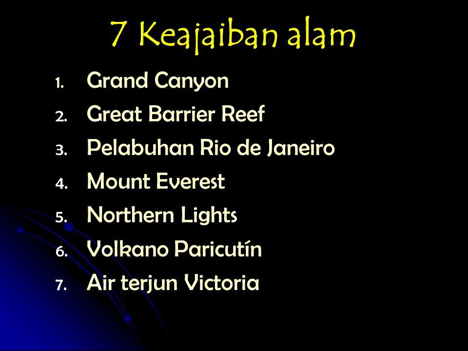 7 Keajaiban bawah air 1.1. Belize Barrier Reef 2.