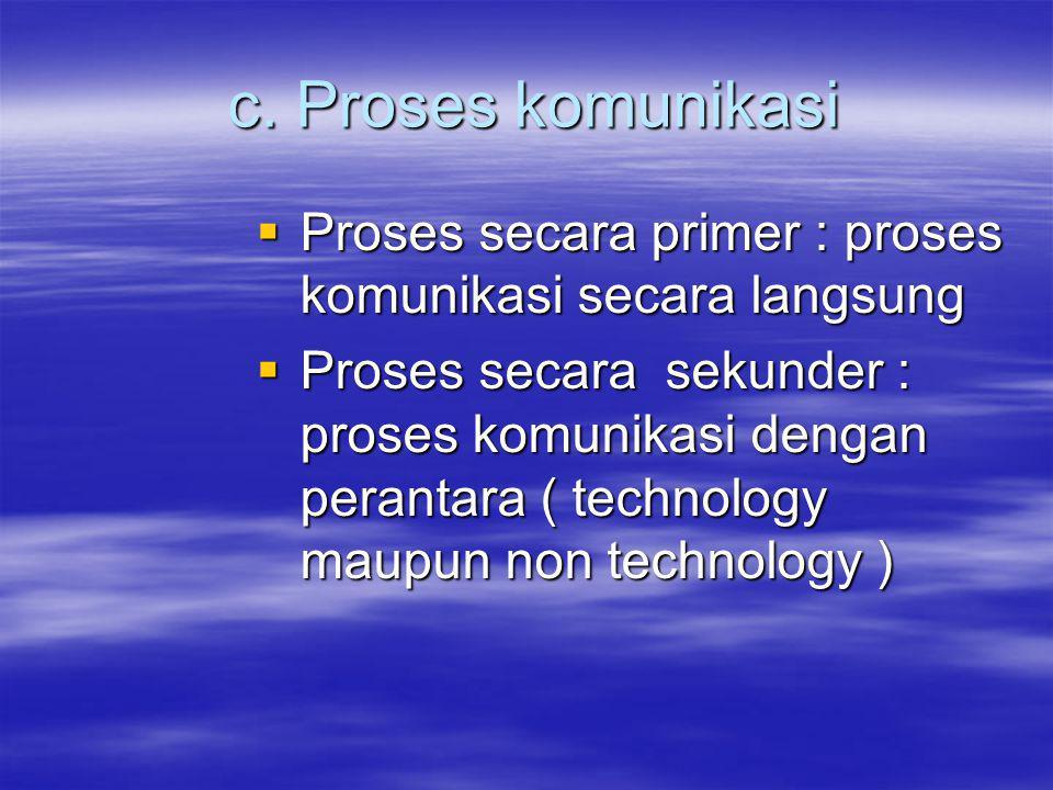 c.Proses komunikasi c.