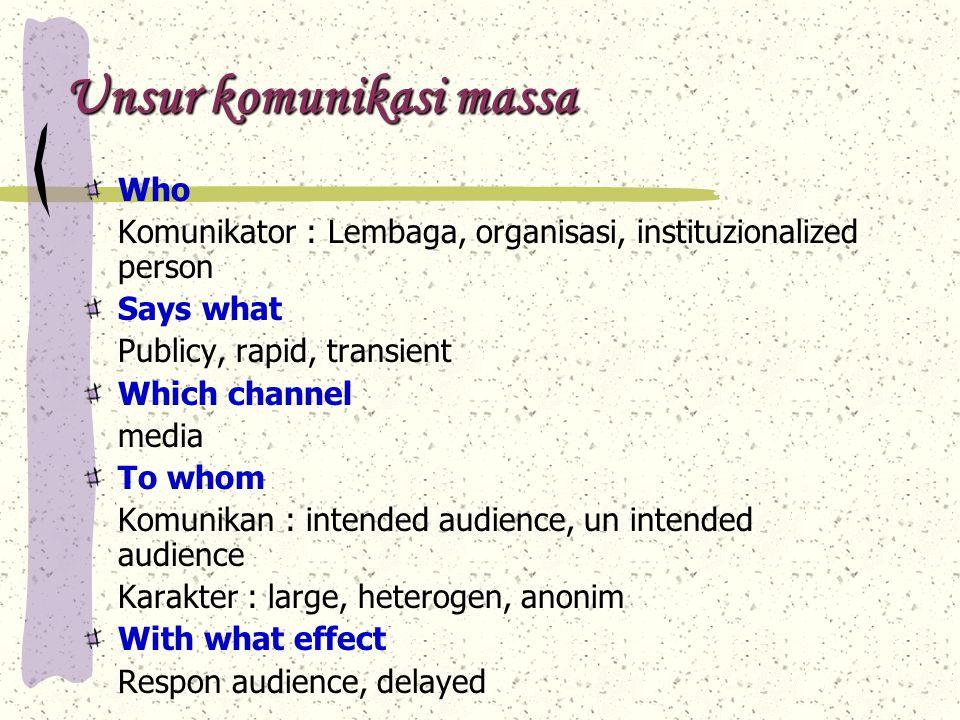 Fungsi komunikasi massa Fungsi komunikasi massa Wilbur Shramm.