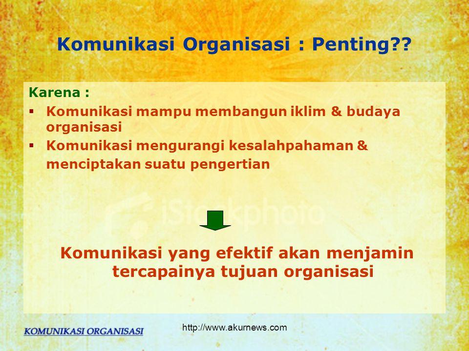 Komunikasi Organisasi : Penting?.