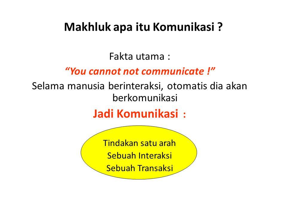 Makhluk apa itu Komunikasi .