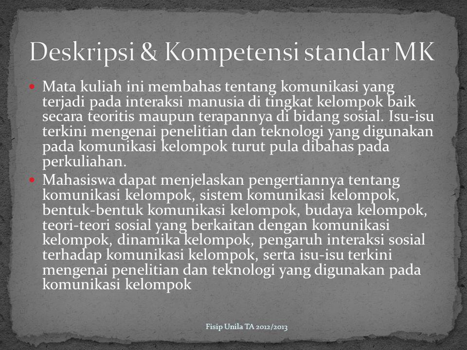 Kuis 10% Tugas 5% Makalah 10% UTS 20% Fisip Unila TA 2012/2013