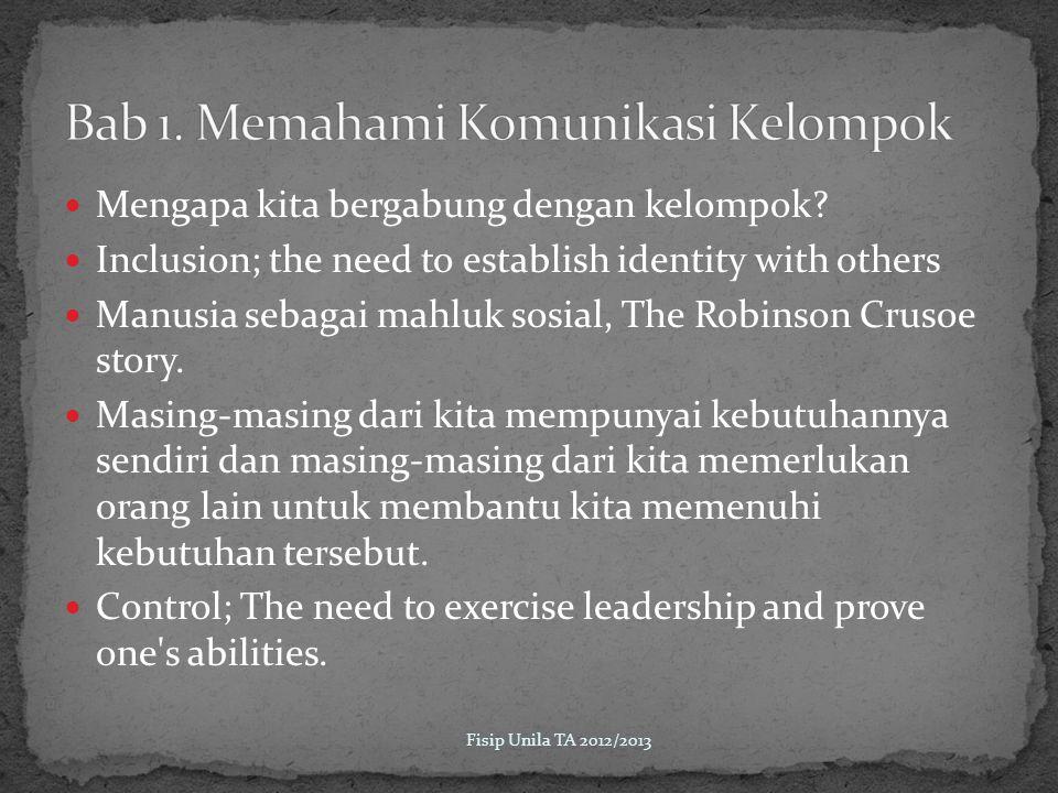 Kohesiftas kelompok rendah; Simptomnya antara lain kurang keterlibatan anggota terhadap kegiatan kelompok, tidak entusiasme, pertanyaan minim.