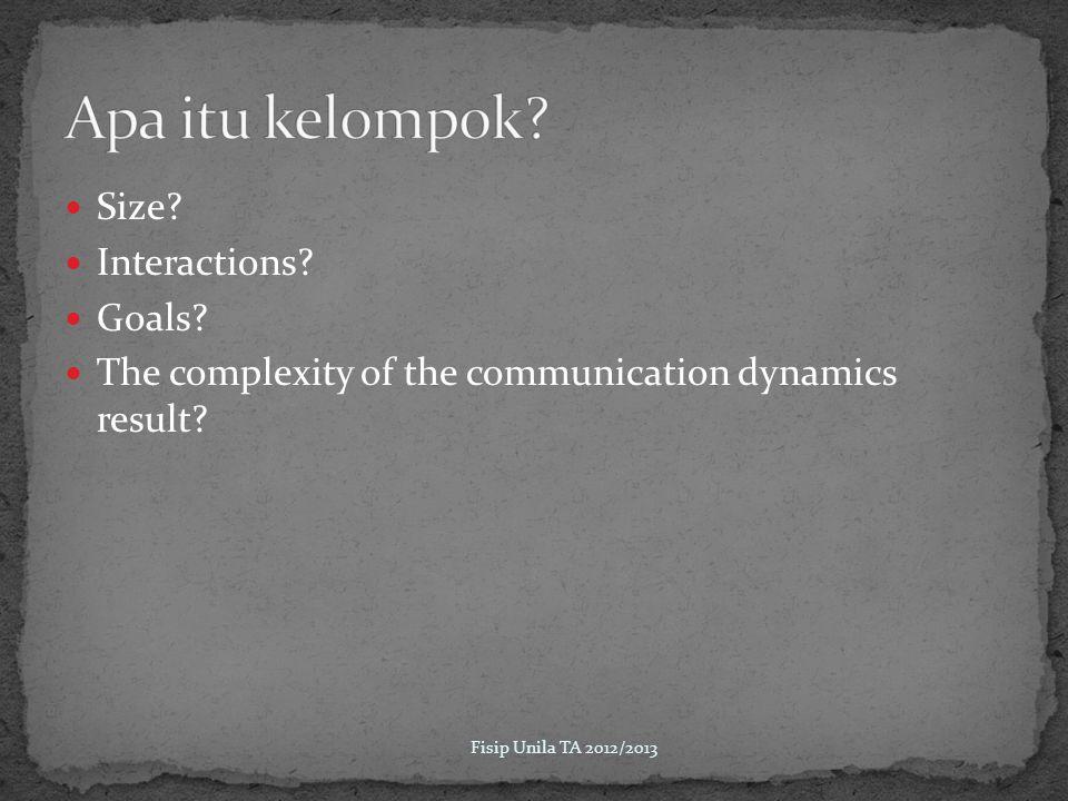 Proses komunikasi yang terjadi diantara sekelompok orang dalam melakukan tugas dan mencapai tujuannya.