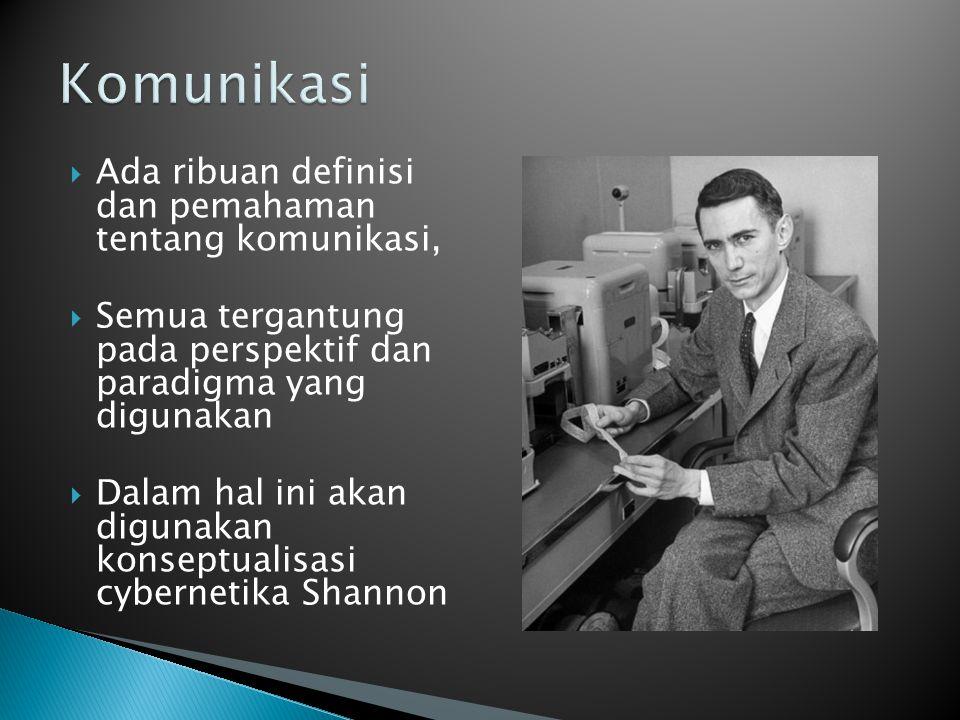  Komunikasi adalah transfer pesan dari komunikator – komunikan.