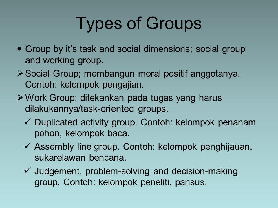 Memahami komunikasi kelompok berdasarkan perkembangan kelompok itu sendiri.
