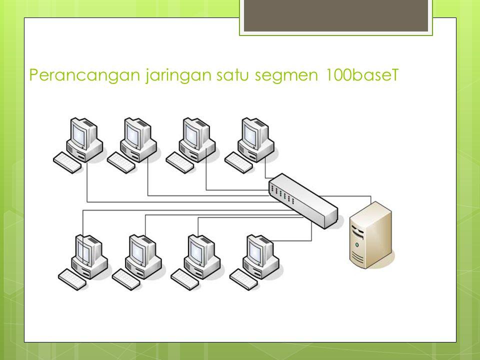Perancangan jaringan satu segmen 100baseT