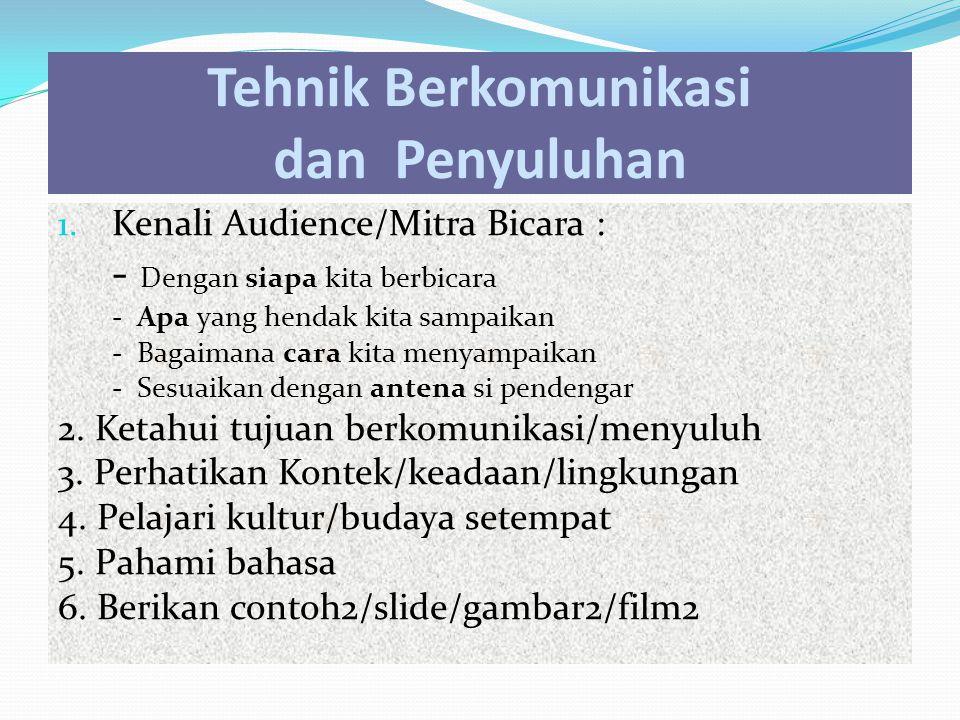 1. Kenali Audience/Mitra Bicara : - Dengan siapa kita berbicara - Apa yang hendak kita sampaikan - Bagaimana cara kita menyampaikan - Sesuaikan dengan