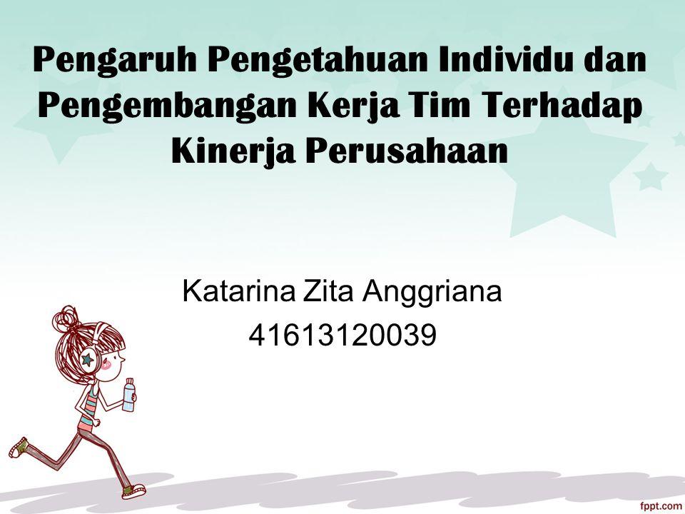 Pengaruh Pengetahuan Individu dan Pengembangan Kerja Tim Terhadap Kinerja Perusahaan Katarina Zita Anggriana 41613120039