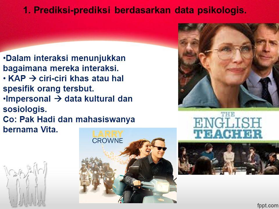 1.Prediksi-prediksi berdasarkan data psikologis.