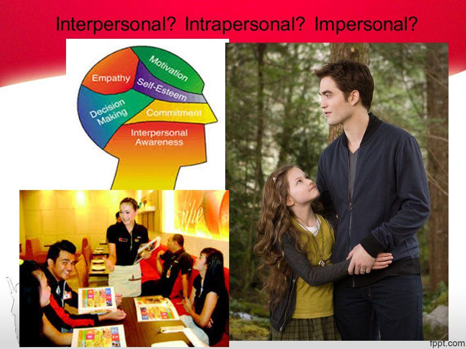 Komunikasi Antarpribadi Komunikasi interpersonal/ interpersonal communication).