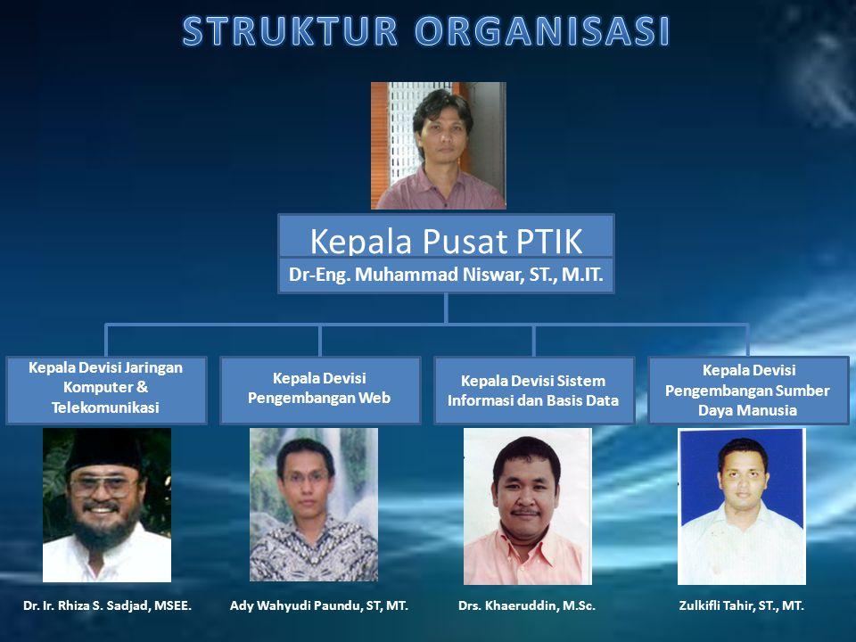 Kepala Pusat PTIK Dr-Eng.Muhammad Niswar, ST., M.IT.