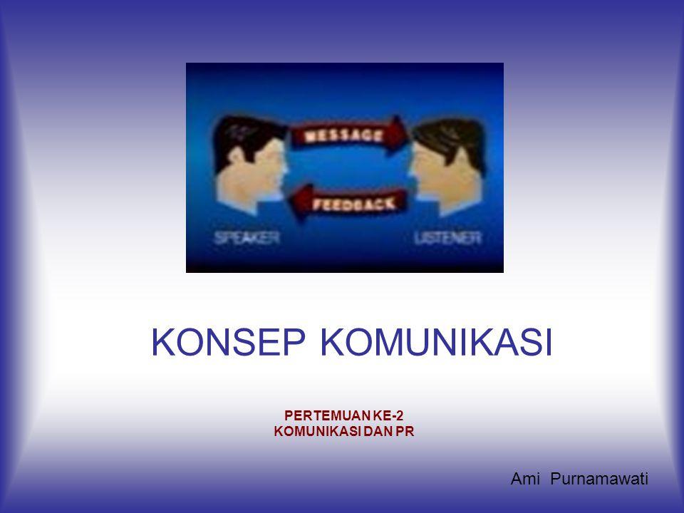 KONSEP KOMUNIKASI PERTEMUAN KE-2 KOMUNIKASI DAN PR Ami Purnamawati