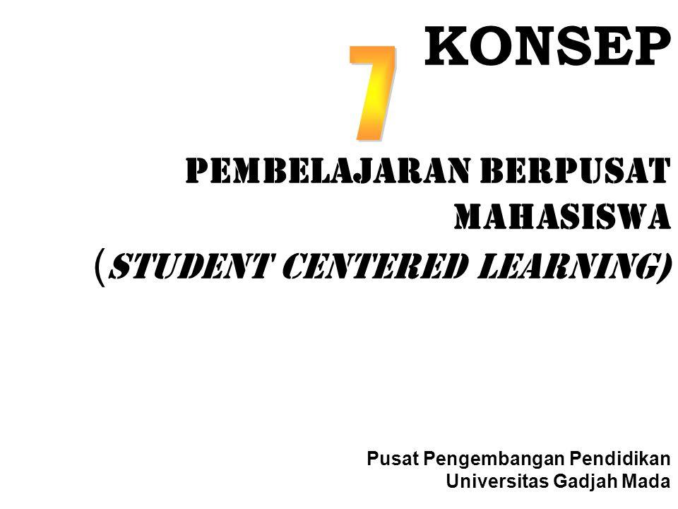 KONSEP Pembelajaran Berpusat Mahasiswa ( STUDENT CENTERED LEARNING) Pusat Pengembangan Pendidikan Universitas Gadjah Mada