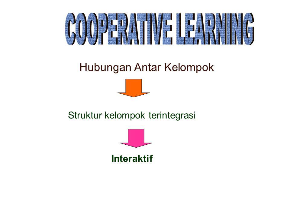 Hubungan Antar Kelompok Struktur kelompok terintegrasi Interaktif