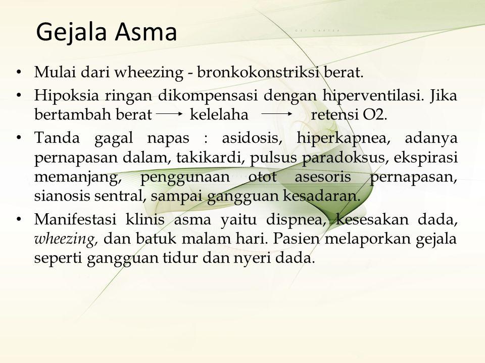 ASUHAN KEBIDANAN PADA IBU HAMIL DENGAN ASTHMA Pengkajian Jam:Tanggal: Data Subyektif 1.