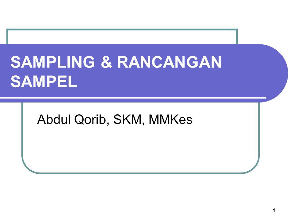 1 SAMPLING & RANCANGAN SAMPEL Abdul Qorib, SKM, MMKes