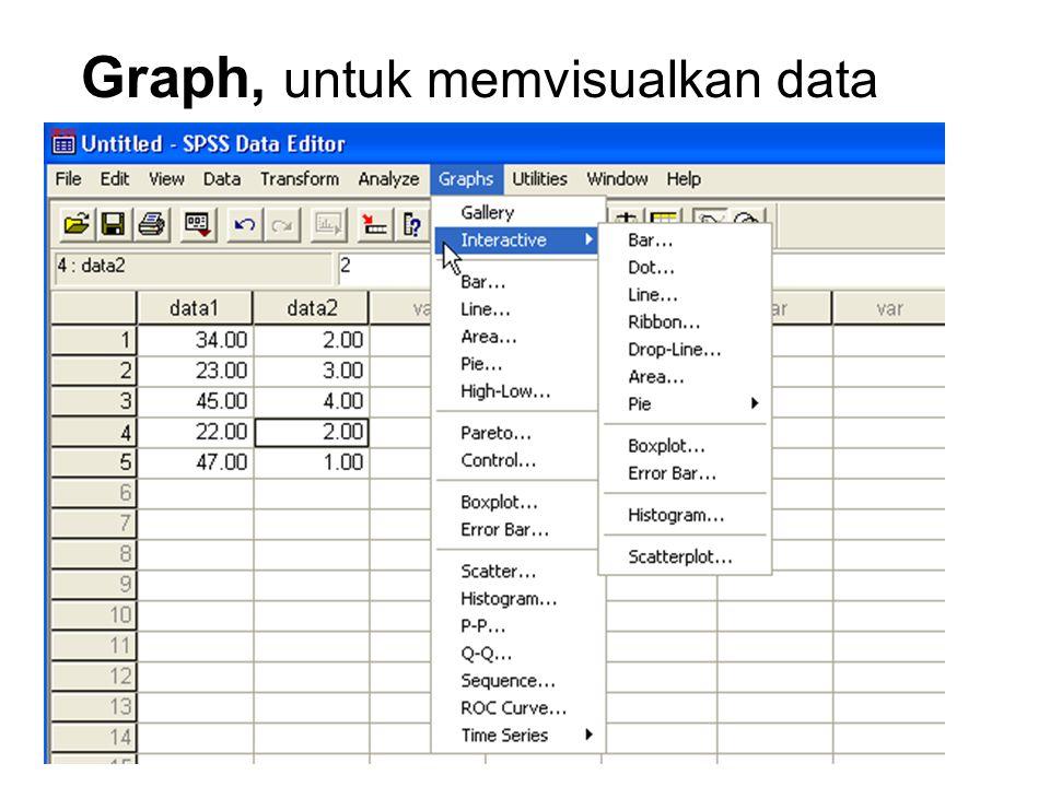 Analyze, digunakan untukmmenganalisa data