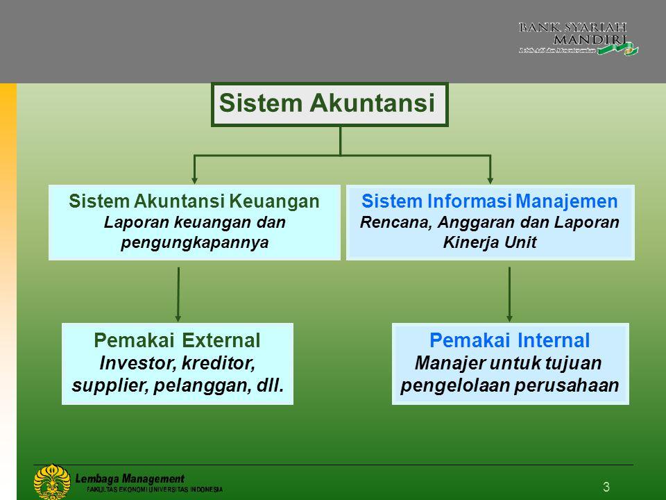 3 Sistem Akuntansi Sistem Akuntansi Keuangan Laporan keuangan dan pengungkapannya Sistem Informasi Manajemen Rencana, Anggaran dan Laporan Kinerja Uni