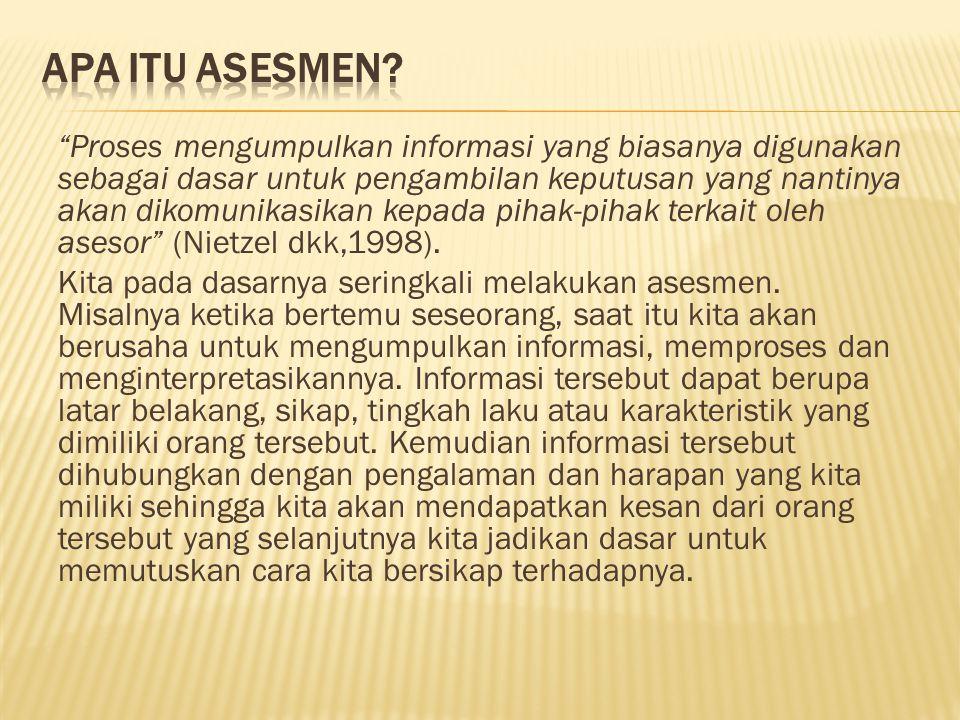 3.Cognitive-Behavioral I. Deskripsi tentang penampilan fisik dan perilaku selama asesmen II.