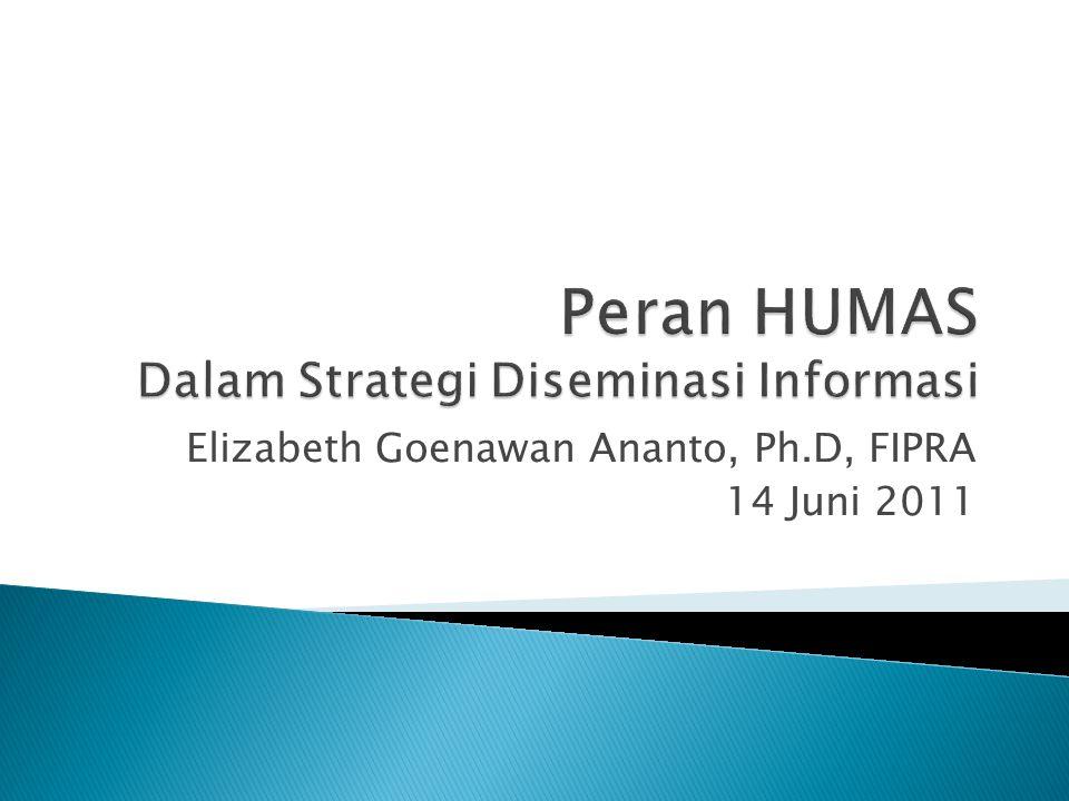 Elizabeth Goenawan Ananto, Ph.D, FIPRA 14 Juni 2011