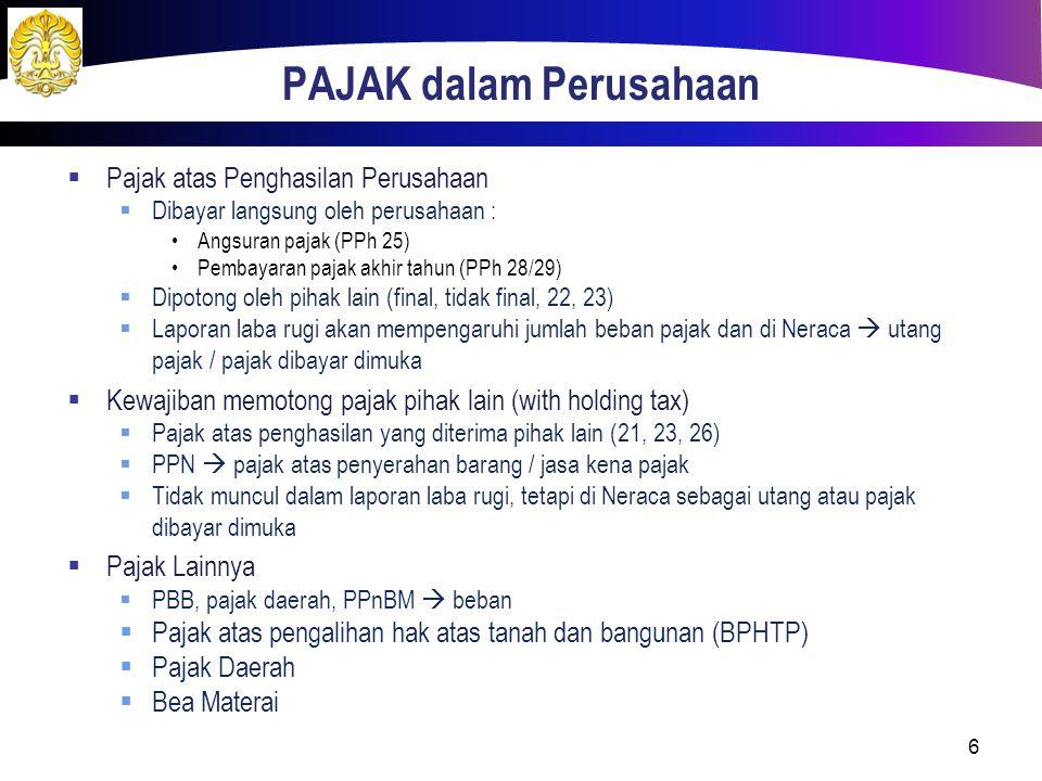 PPN  Pencatatan saat penjualan  Piutang dagang330.000  Penjualan300.000  PPN keluaran 30.000  Pada saat melakukan pembelian barang atau barang yang yang dipergunakan untuk produksi perusahaan harus membayar PPN kepada suplier.