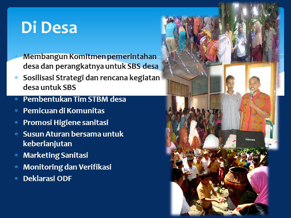  Membangun Komitmen pemerintahan desa dan perangkatnya untuk SBS desa  Sosilisasi Strategi dan rencana kegiatan desa untuk SBS  Pembentukan Tim STB