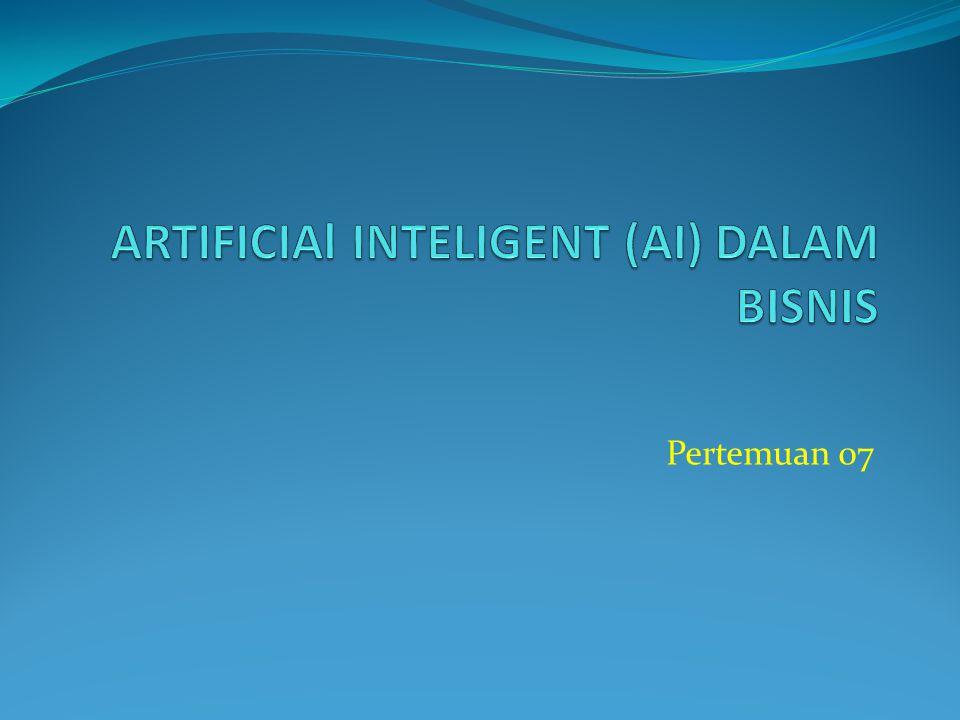Definisi Kecerdasan Tiruan(AI-Artificial Intelligence) adalah suatu bidang ilmu pengetahuan dan teknologi yang berdasarkan pada berbagai disiplin ilmu pengetahuan seperti komputer, biologi, psikologi, linguistik (ilmu bahasa), matematika, dan rancang-bangun.