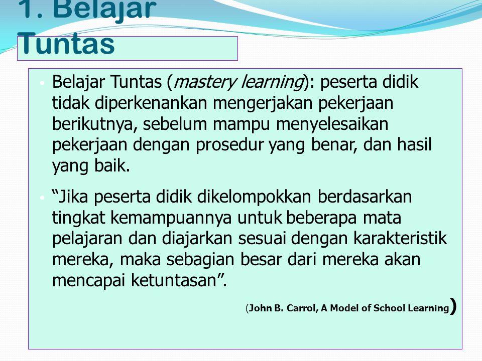 lanjutan Guru harus mempertimbangkan antara waktu yang diperlukan berdasarkan karakteristik peserta didik dan waktu yang tersedia di bawah kontrol guru (John B.