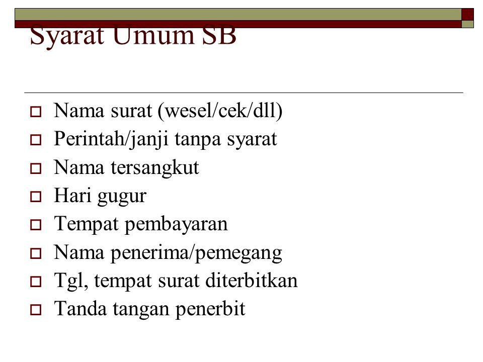 Klausula-klausula dalam SB 1.Atas pembawa/atas unjuk/atas tunjuk (aan toonder).