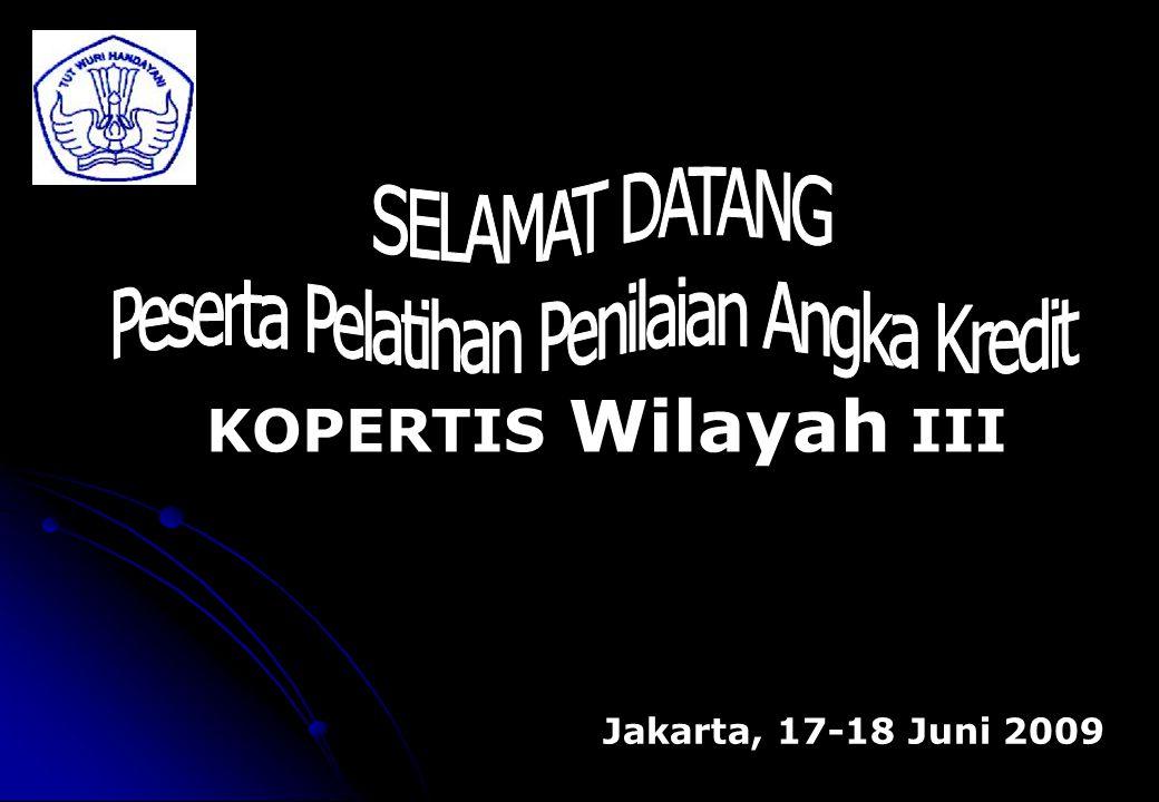 KOPERTIS Wilayah III Jakarta, 17-18 Juni 2009